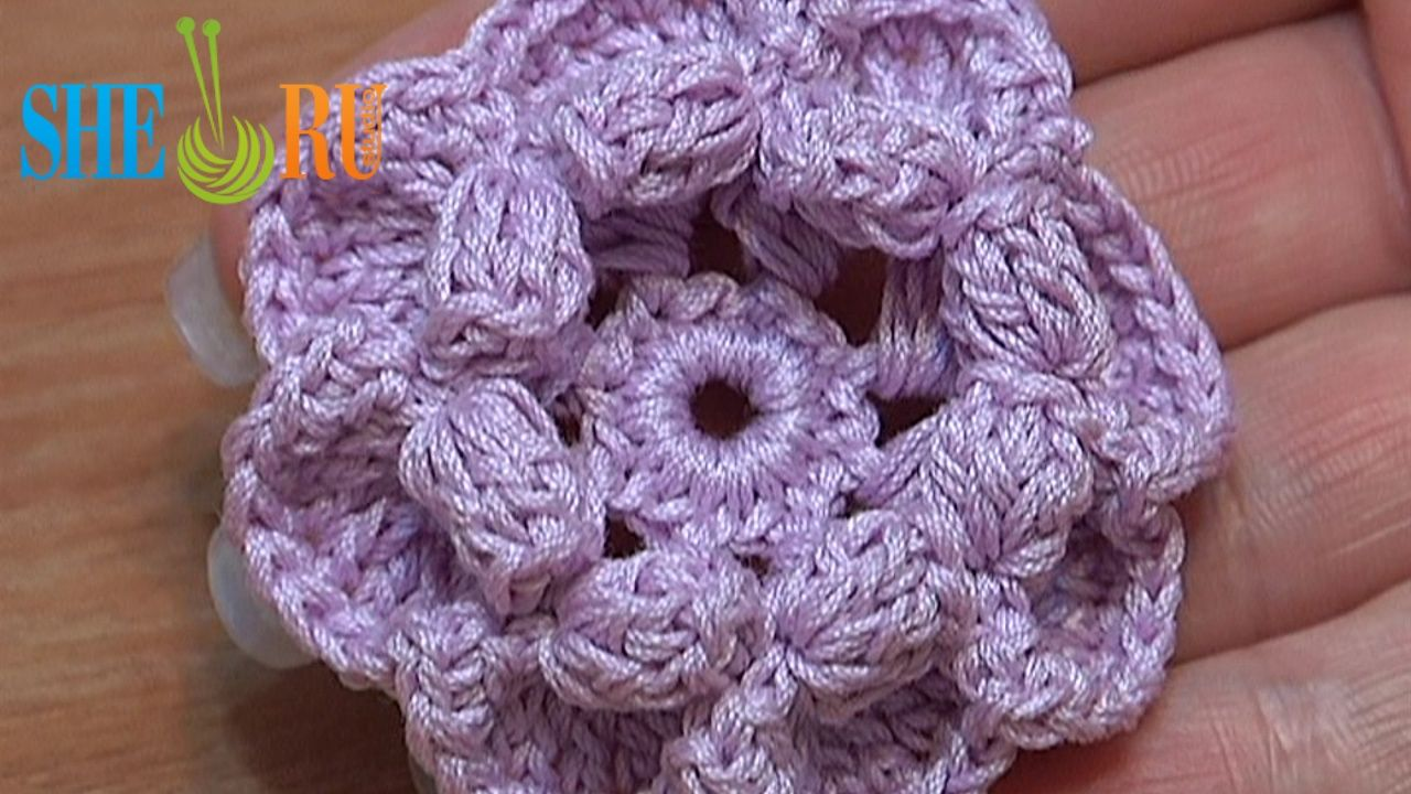Knit Popcorn Stitch In The Round : Pin by SHERU Knitting on Crochet Flower Tutorials Pinterest
