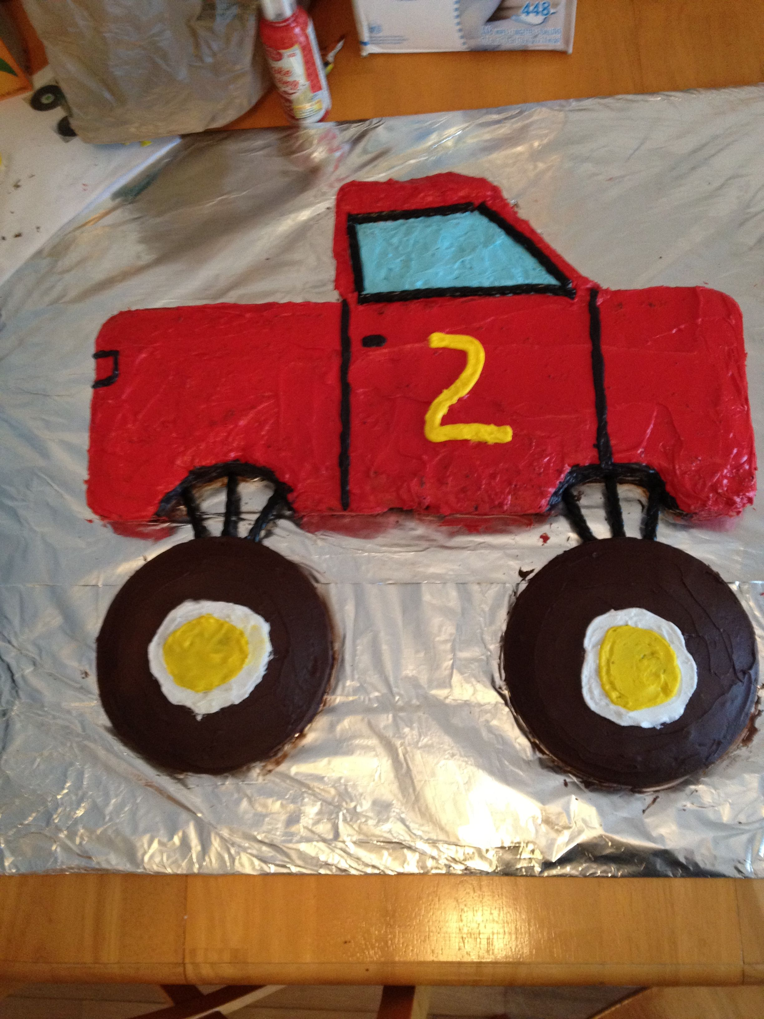 Monster Truck Cake cake ideas Pinterest