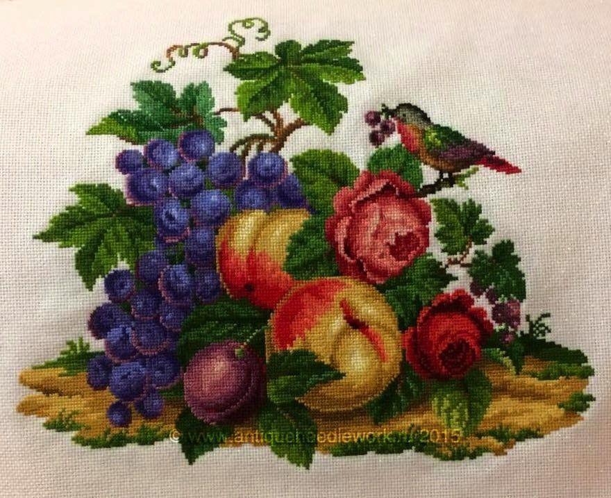 Схемы к вышивкам натюрморт с фруктами 379