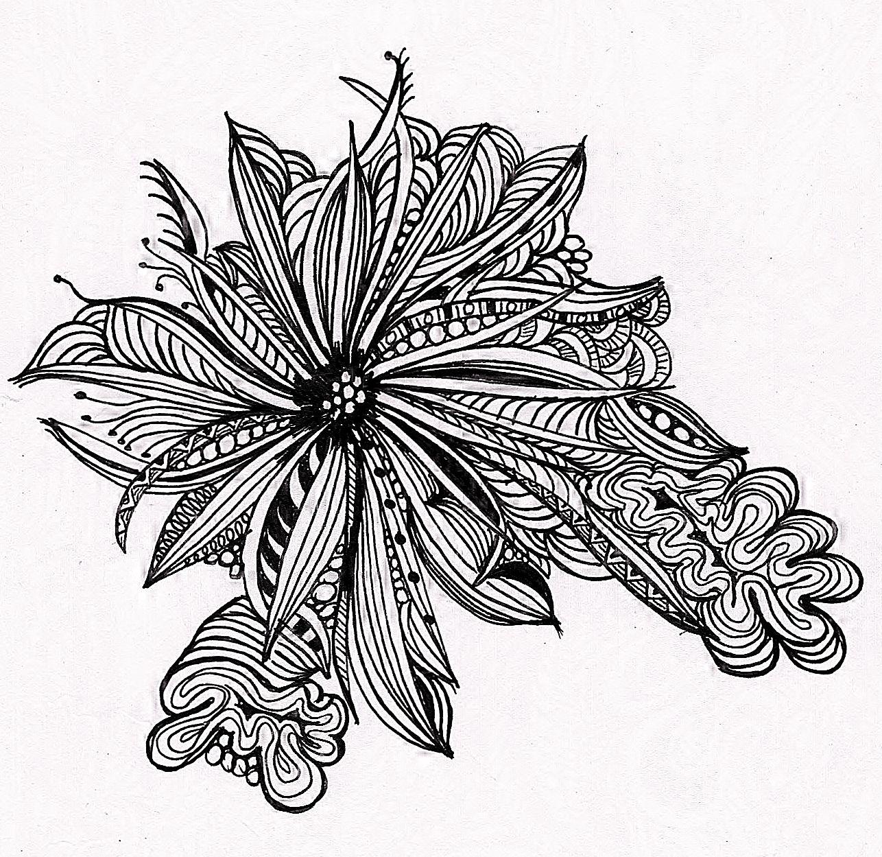 the flower Art Zentangles