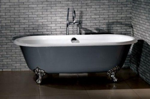 Gray Bottom Clawfoot Master Bath Pinterest