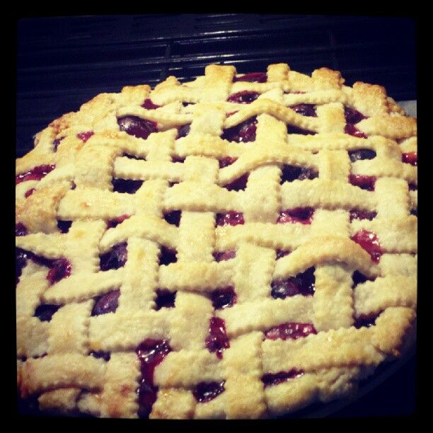 Fresh baked Cherry Pie! | Food With Love | Pinterest