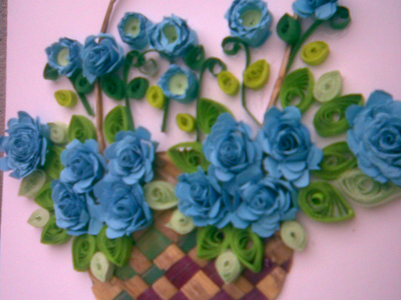 ... MY paper quilling flower baskets( Greeting c
