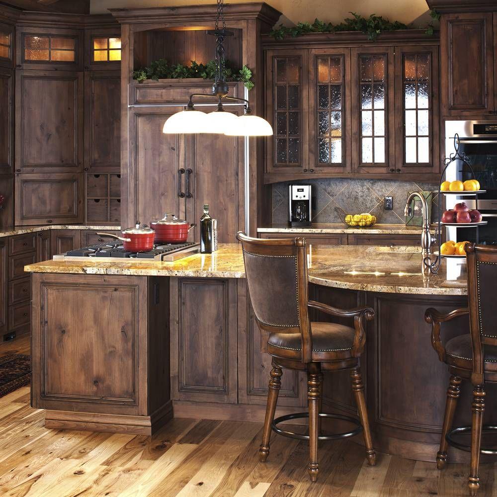 Mountain modern kitchen in knotty alder kitchens for Mountain kitchen designs
