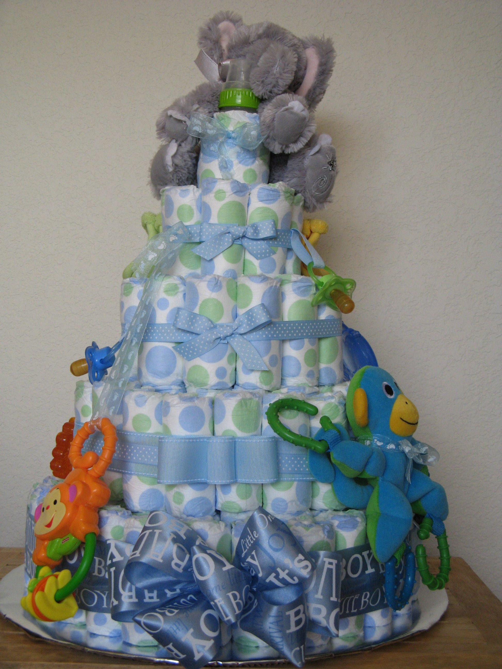 Diaper Cake Ideas For Baby Boy : Pinterest: Discover and save creative ideas