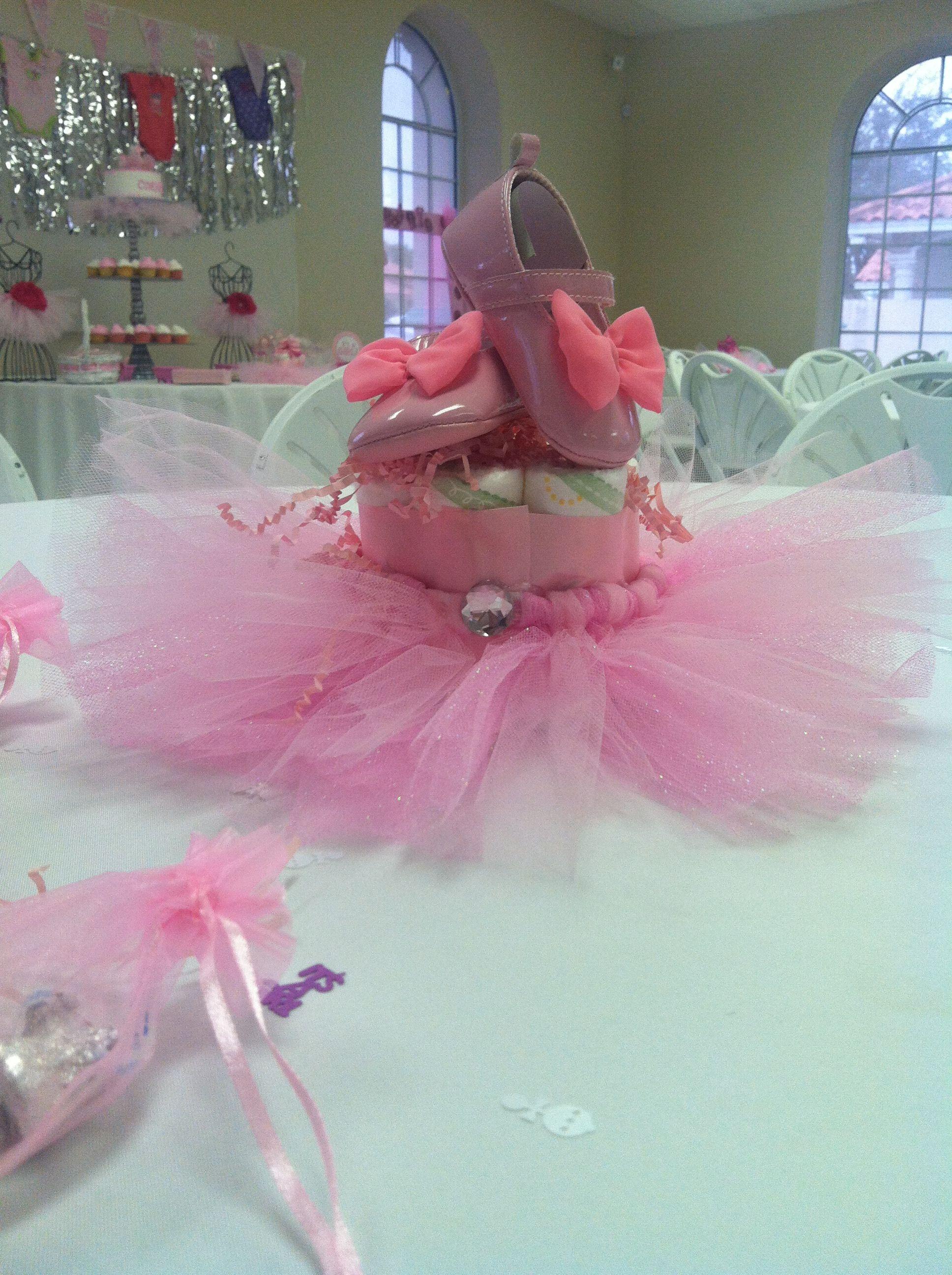 ballerina baby shower centerpieces baby showers pinterest