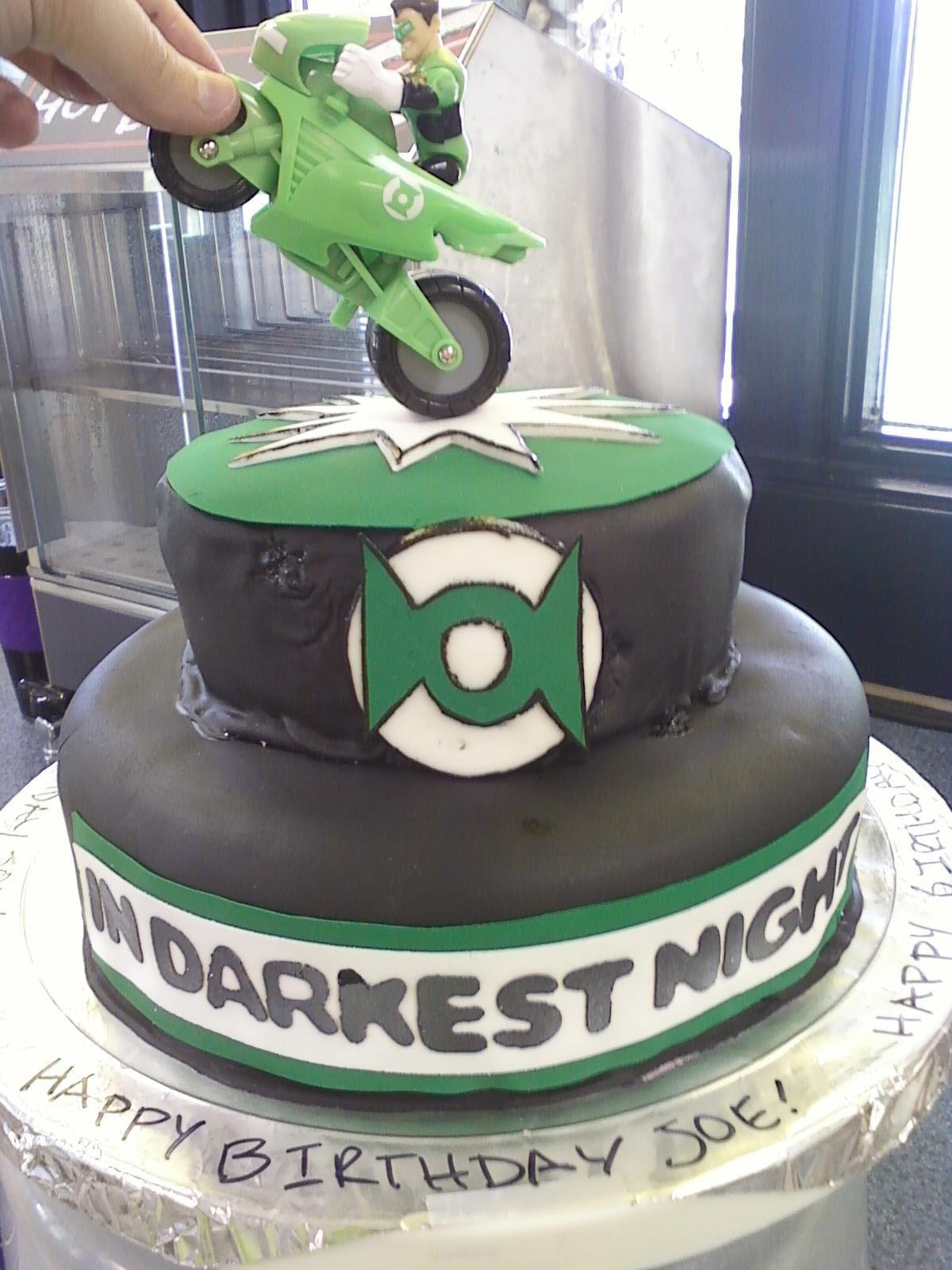Green Lantern Cake  Cakes  Pinterest