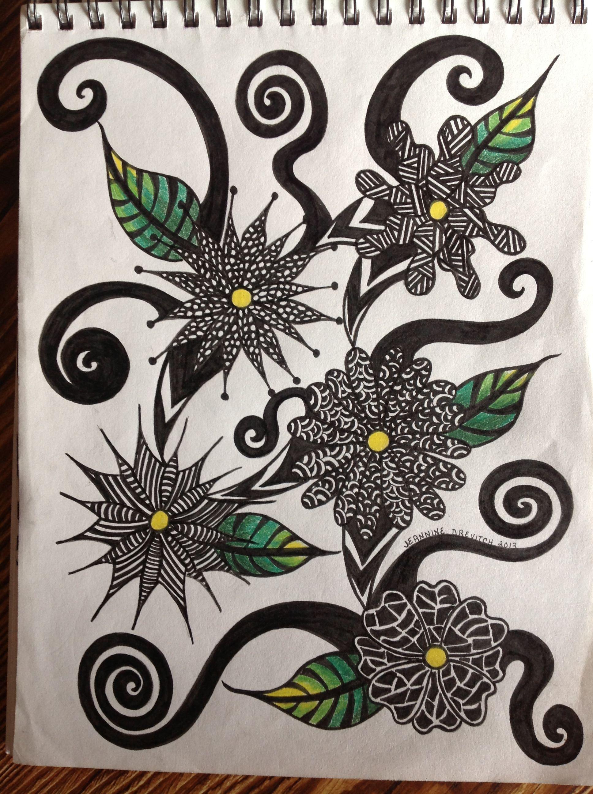 My Flower Zentangle My Zentangles