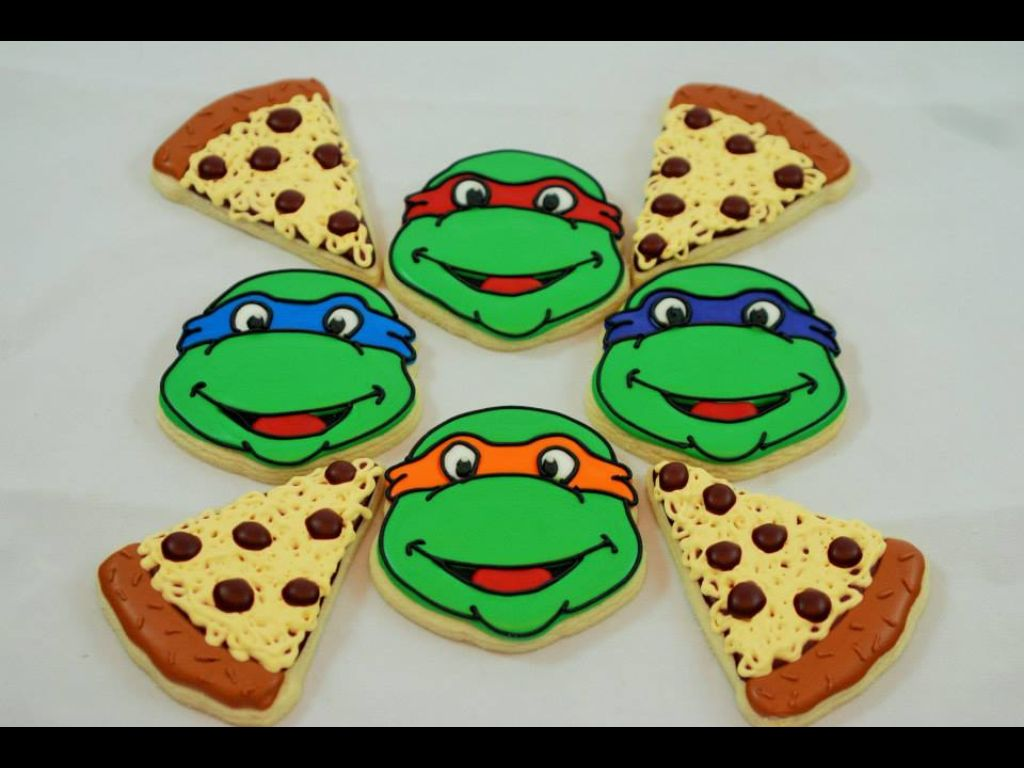 TMNT and pizza sugar cookies | Birthday Creations! | Pinterest