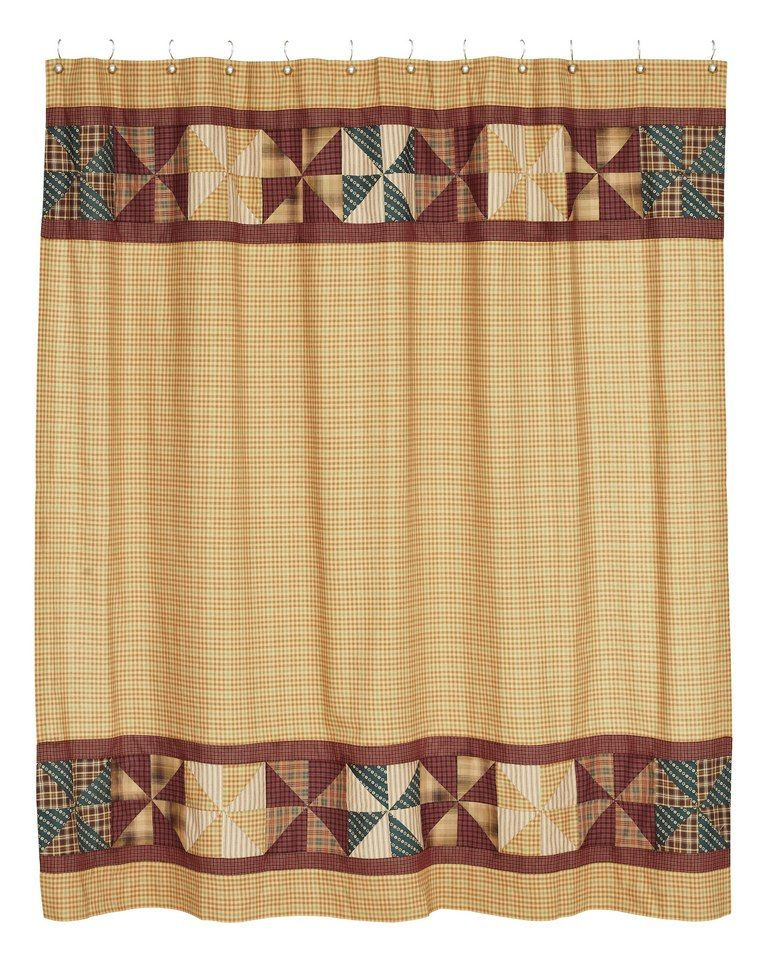 Cortina Ba O Country Primitive Shower Curtain