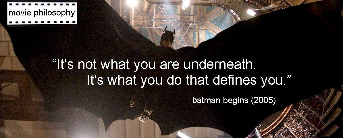 Batman Begins Quotes. ...