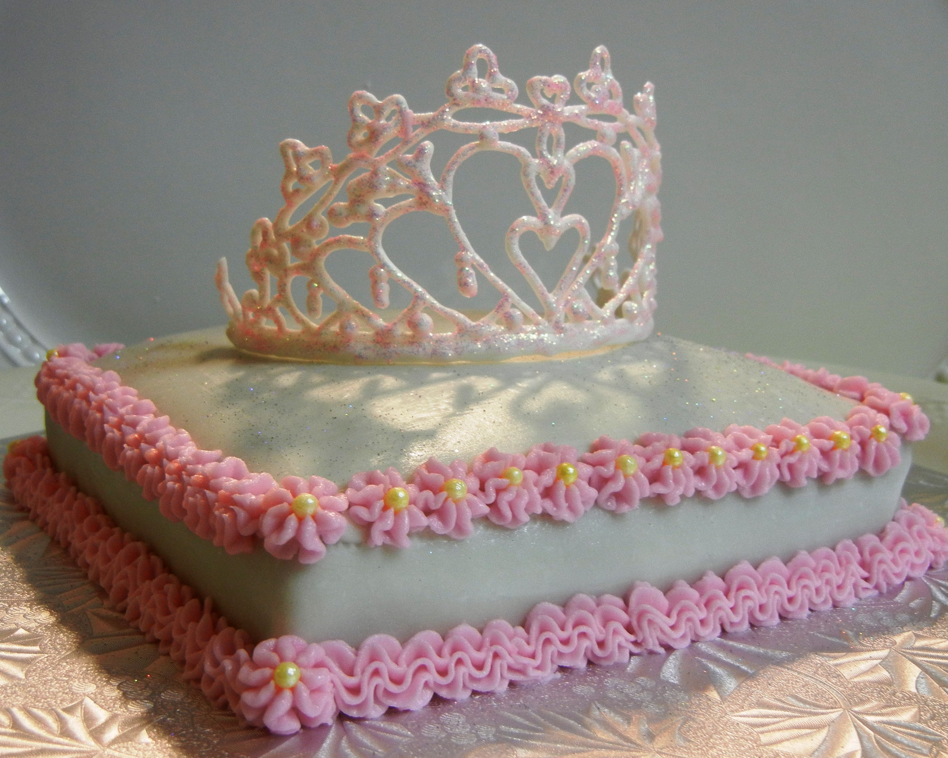 Princess Crown Cake kids birthday Pinterest