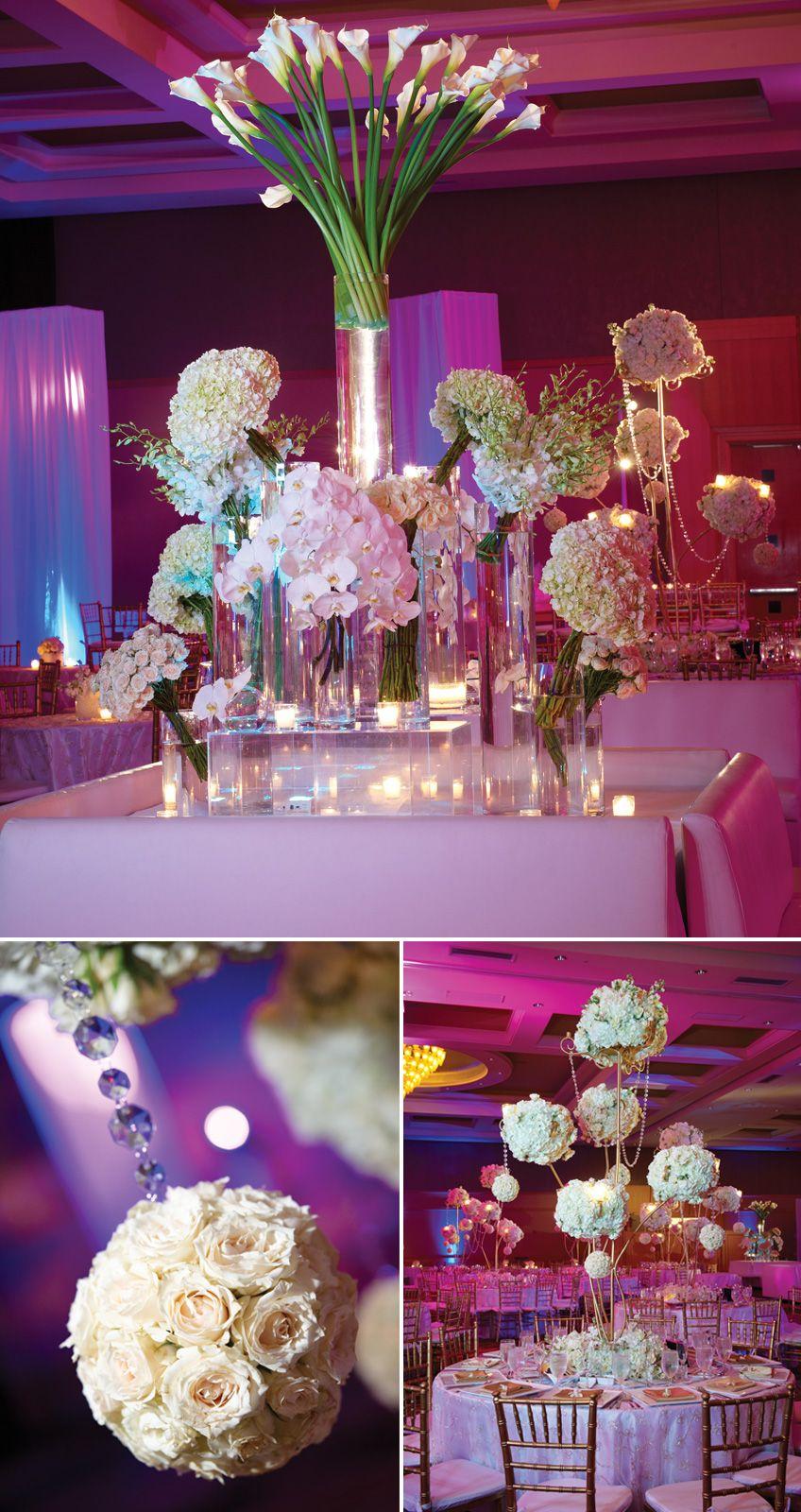 Pretty wedding reception decorations wedding decoration for Pretty wedding table decorations