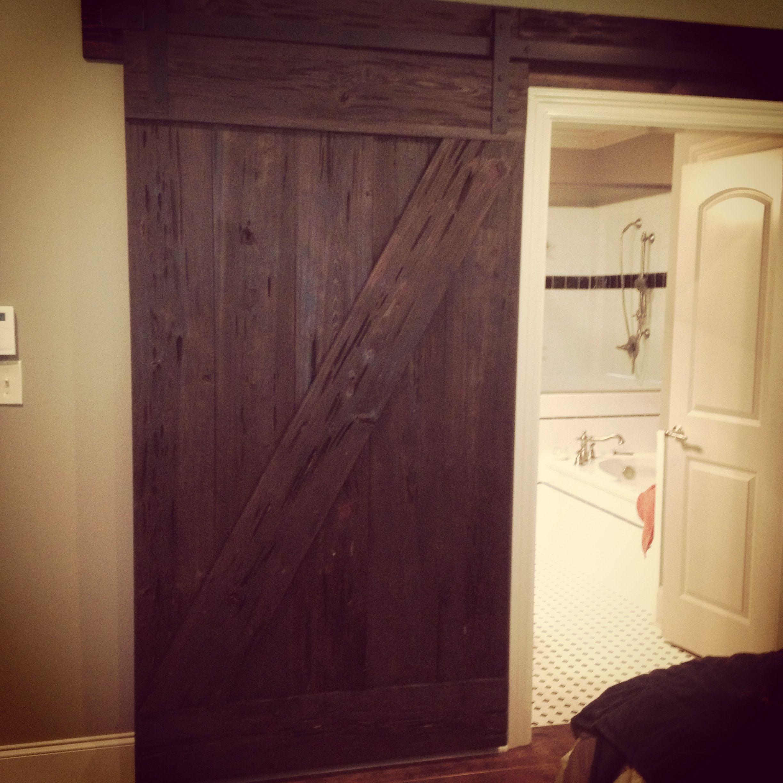 Bathroom Barn Door Home Projects DIY Pinterest