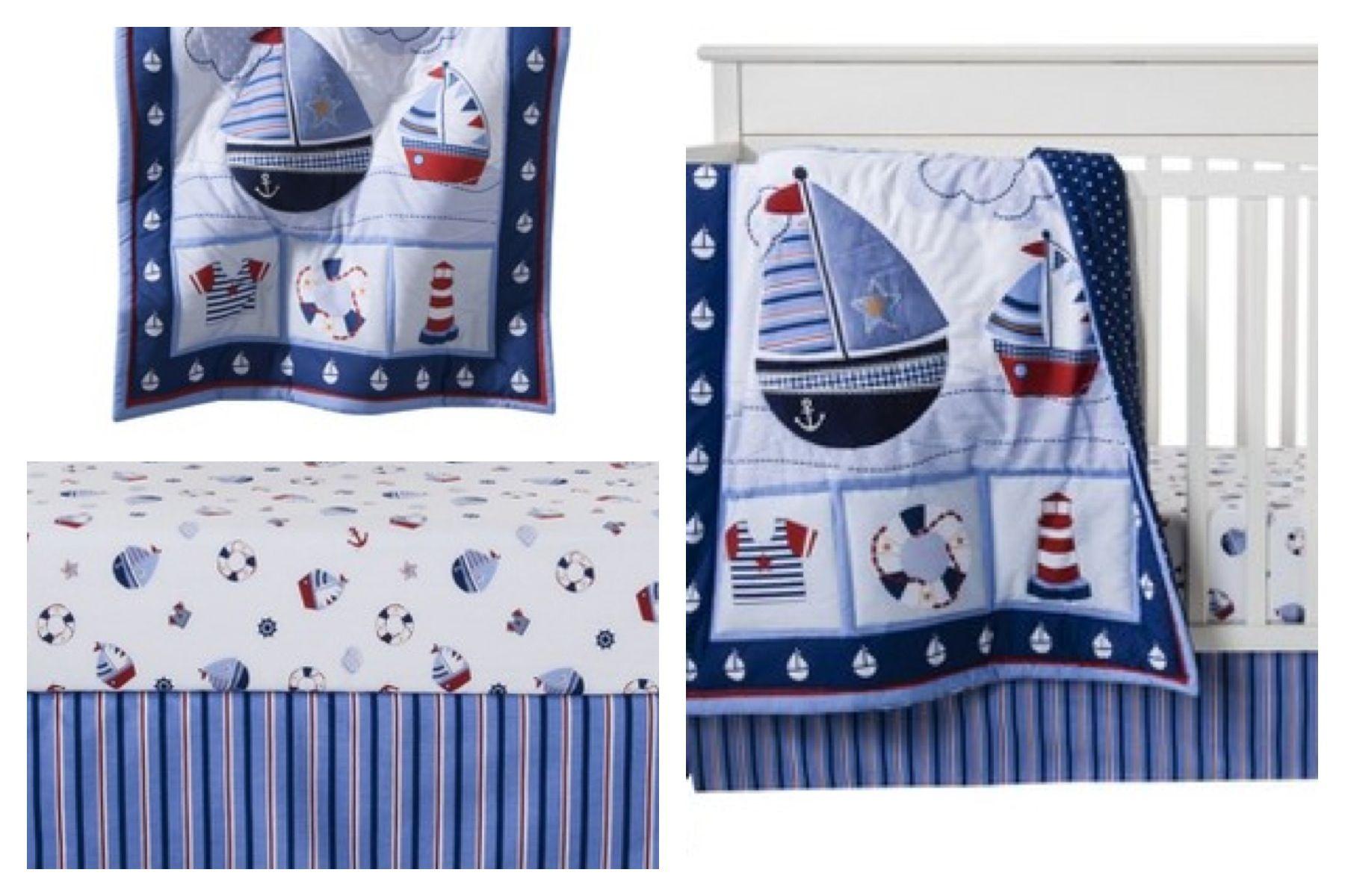 Nautical baby bedding  Oh baby baby!  Pinterest