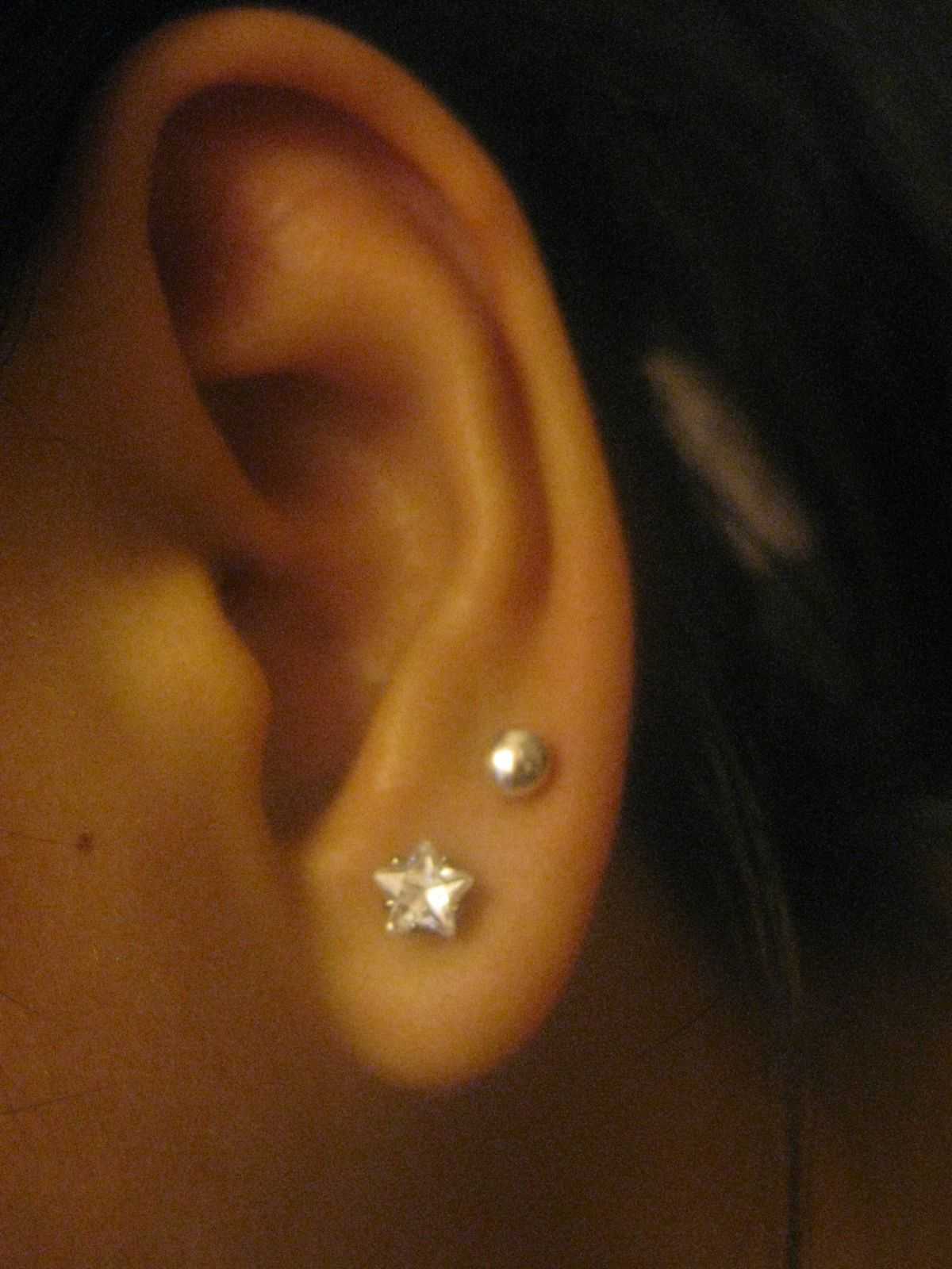 double ear piercing .. I WANT THIS! | My Style! | Pinterest
