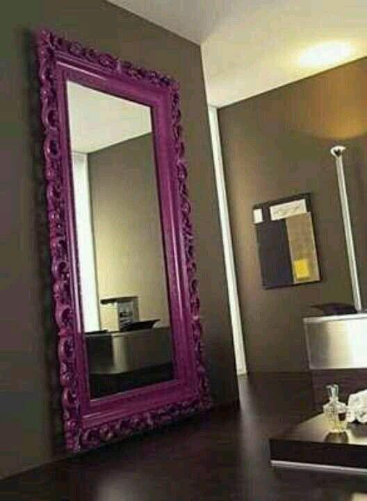 Painted mirror frame home ideas pinterest for Como hacer espejos decorativos