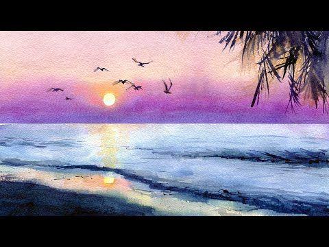 Море картины акварелью для начинающих