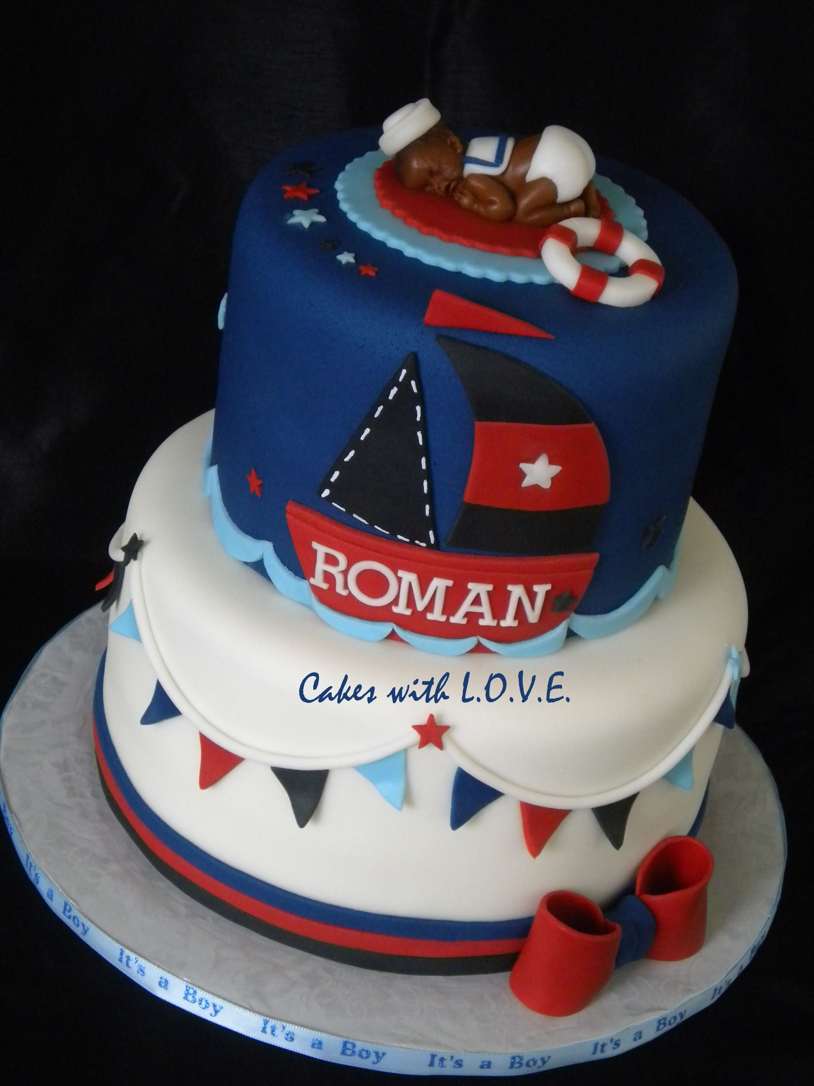 nautical baby shower cake desserts come true ideas pinterest