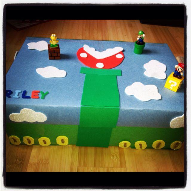 Mario valentines day box for caden kids pinterest - Valentines day boxes for kids ...