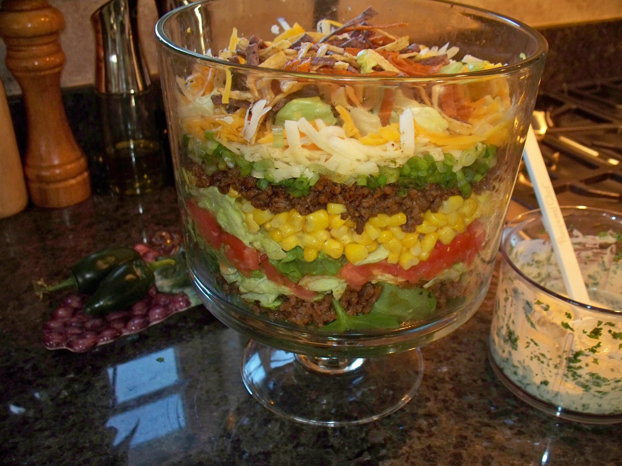 Layered Taco Salad | Food Lovers Delight | Pinterest