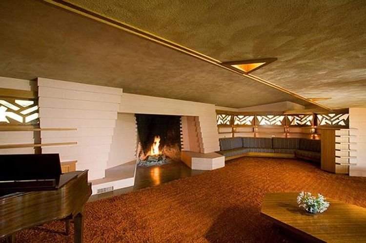 Frank Lloyd Wright Fawcett House Z Interiors 3