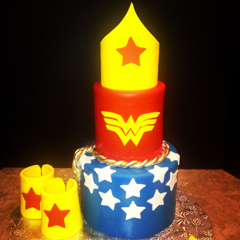Pin Wonder Woman Birthday Party Supplies Cake on Pinterest