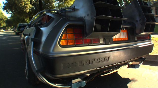 """A fan-made Delorean Time Machine from """"The Time Machinists""""."""