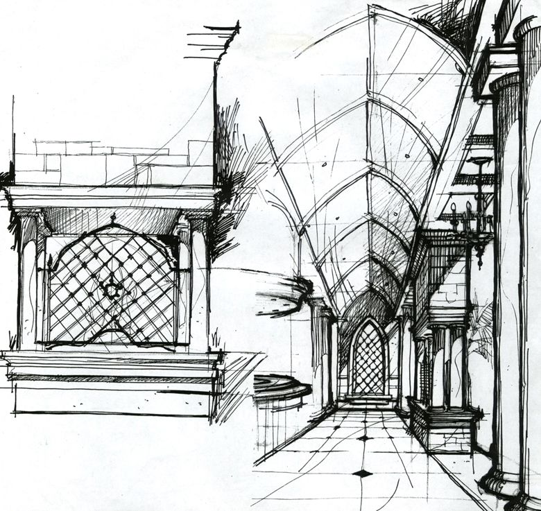 Interior design sketch by dm drawing pinterest for Interior design drawing
