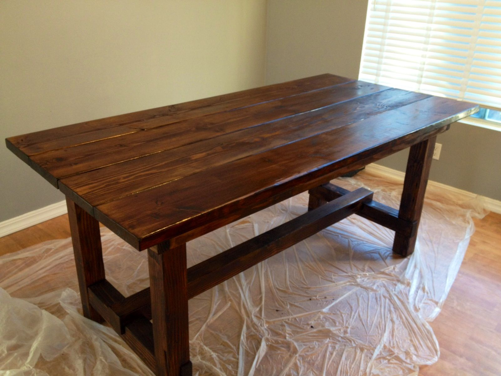 Rustic dining room table made by my husband home for Rustic dining room table