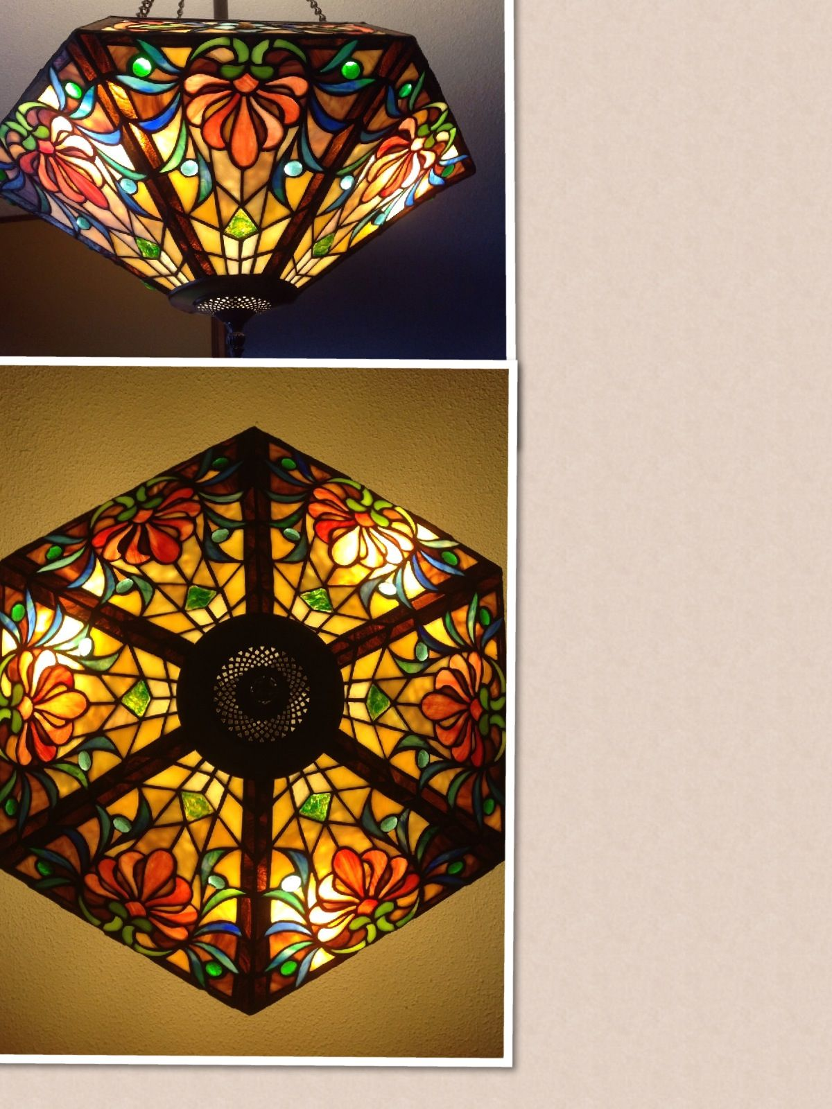 beautiful stained glass hanging lamp stained glass. Black Bedroom Furniture Sets. Home Design Ideas