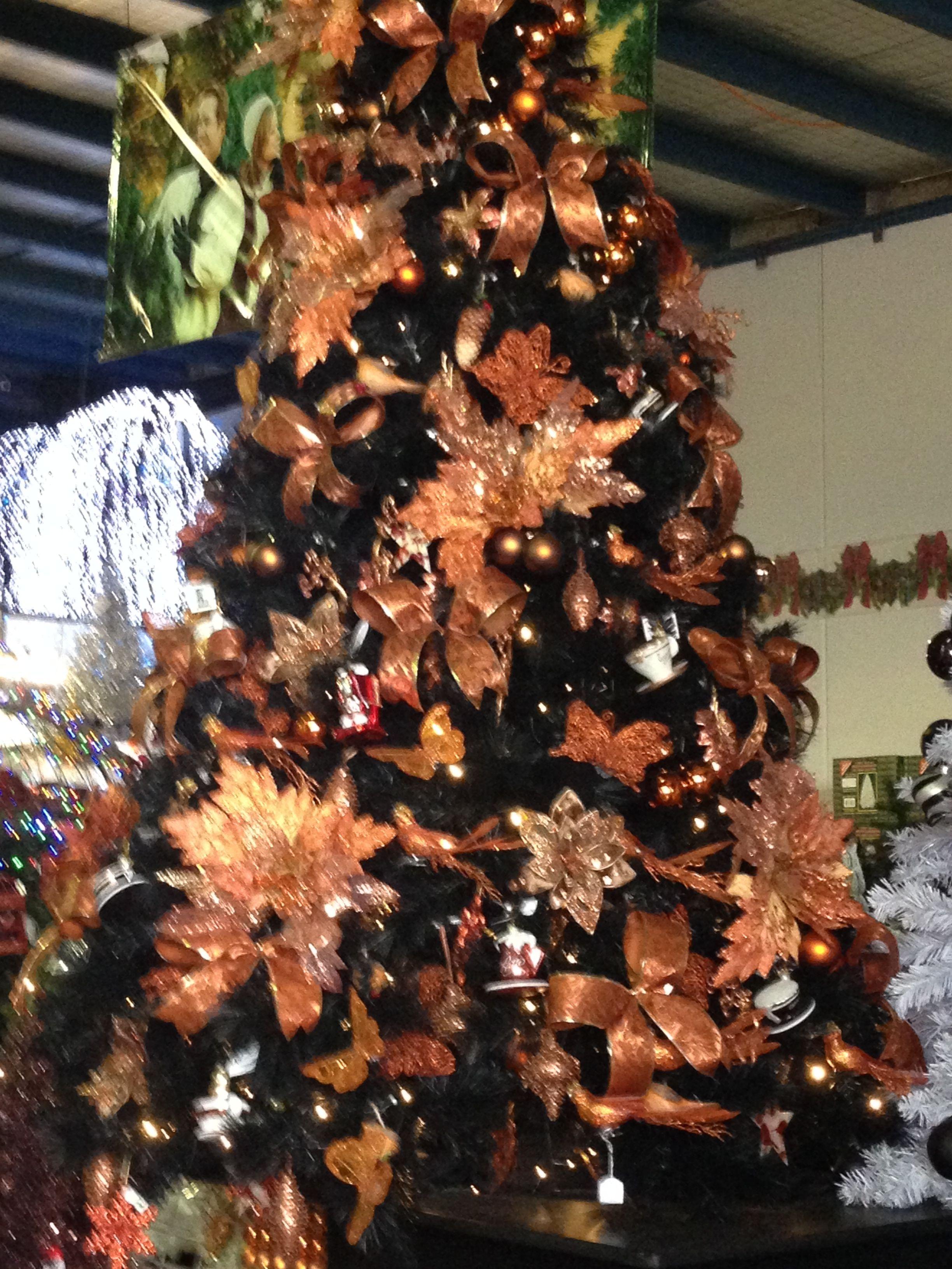 Copper Tree Gold Copper Black Christmas Pinterest