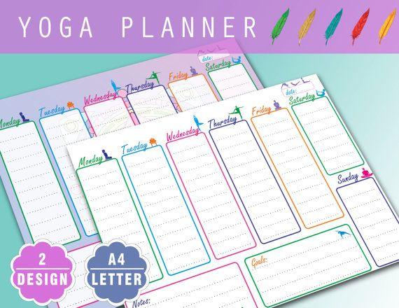 Printable Weekly Yoga Fitness Planner - Mandala planner - weekly ...