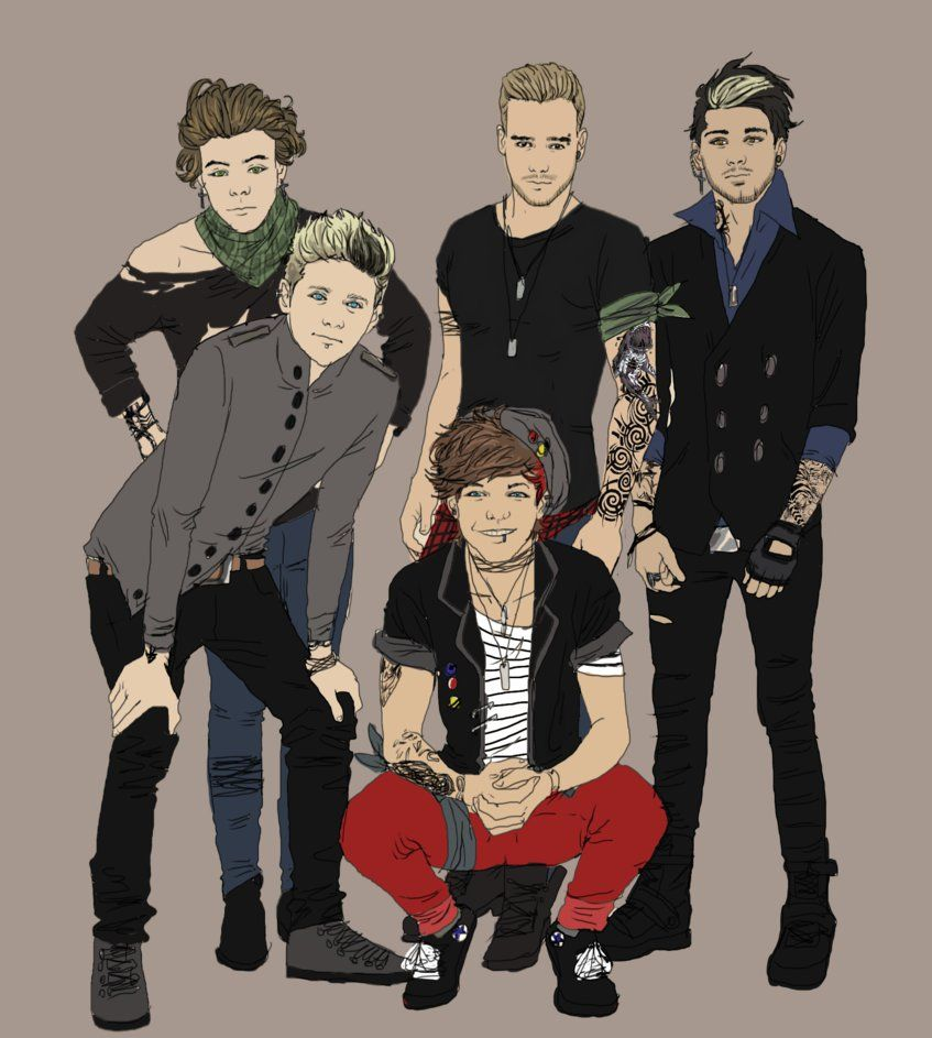 Ignores that this is one direction fan art groups couples story