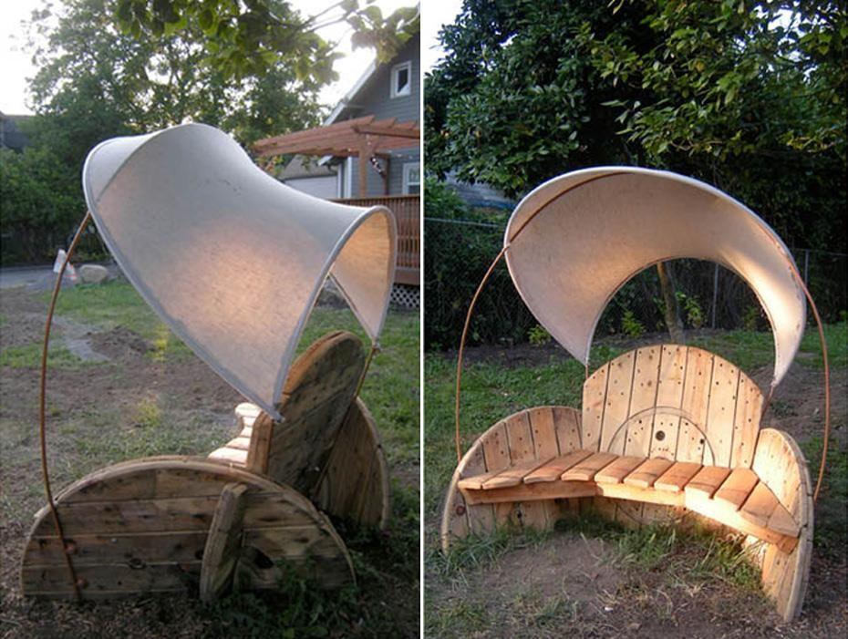 wire spool furniture | Furniture | Pinterest