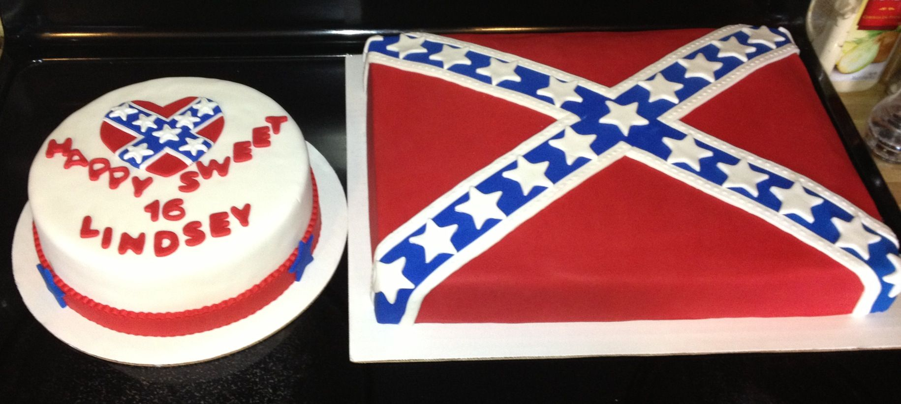 confederate flag birthday cake