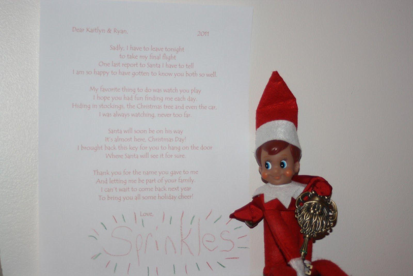 Elf on the shelf goodbye letter winter christmas pinterest