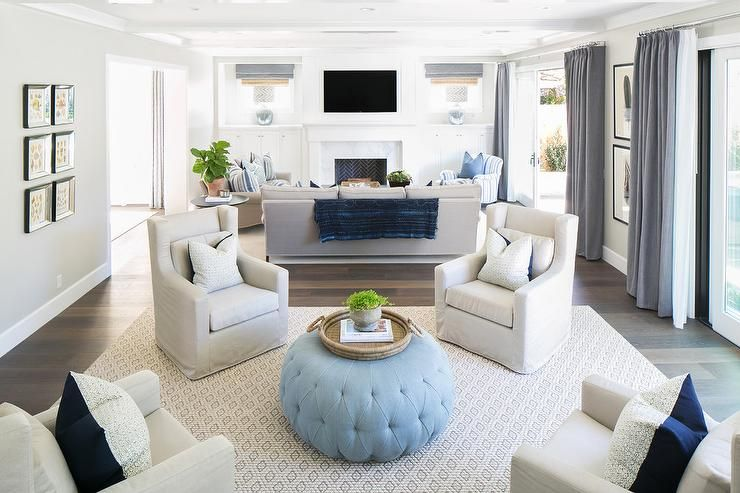 living room design with 4 chairs  Living Room with Two Sitting Areas, Transitional, Living Room ...