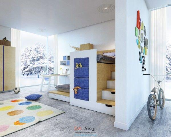 Thêm các túi vải gắn trên tường giúp cất gọn gàng đồ đạc trong căn phòng hơn