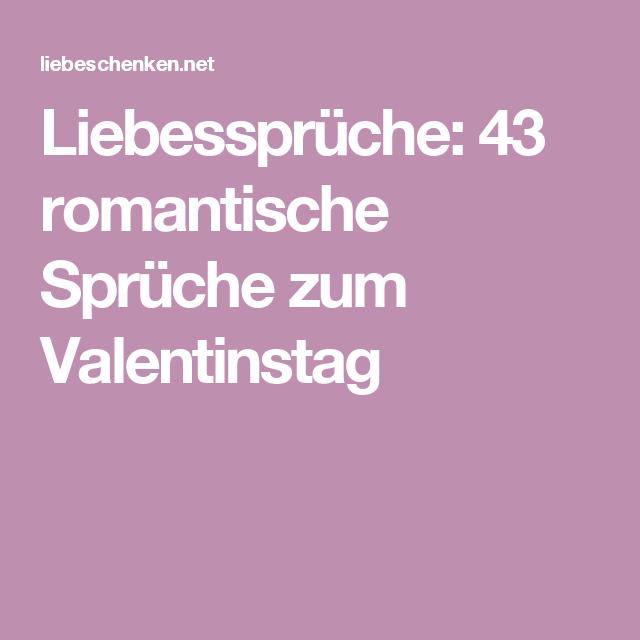 Liebessprüche: 43 romantische Sprüche zum Valentinstag   Sprüche ...