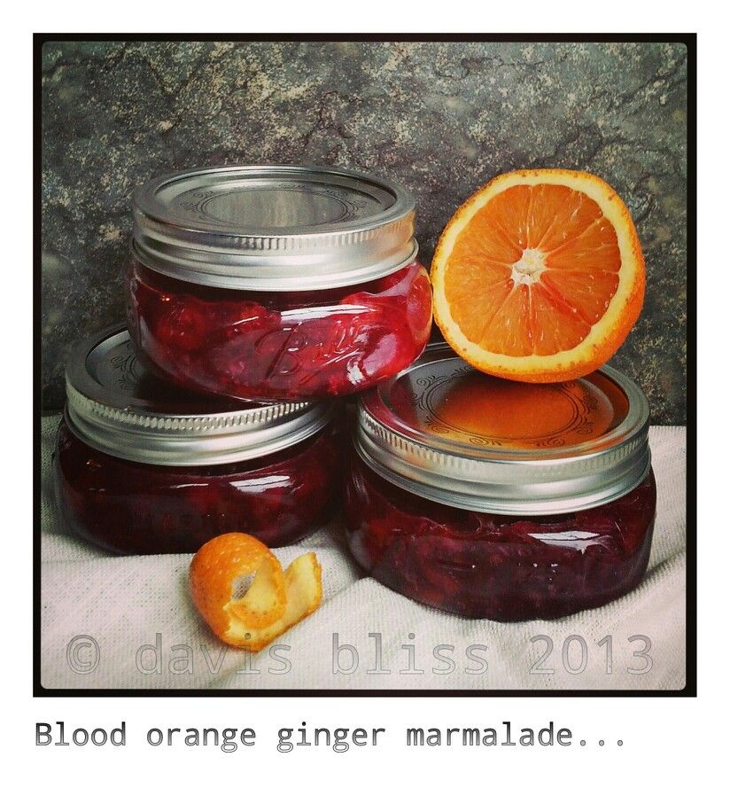 Blood orange ginger marmalade © | Food | Pinterest