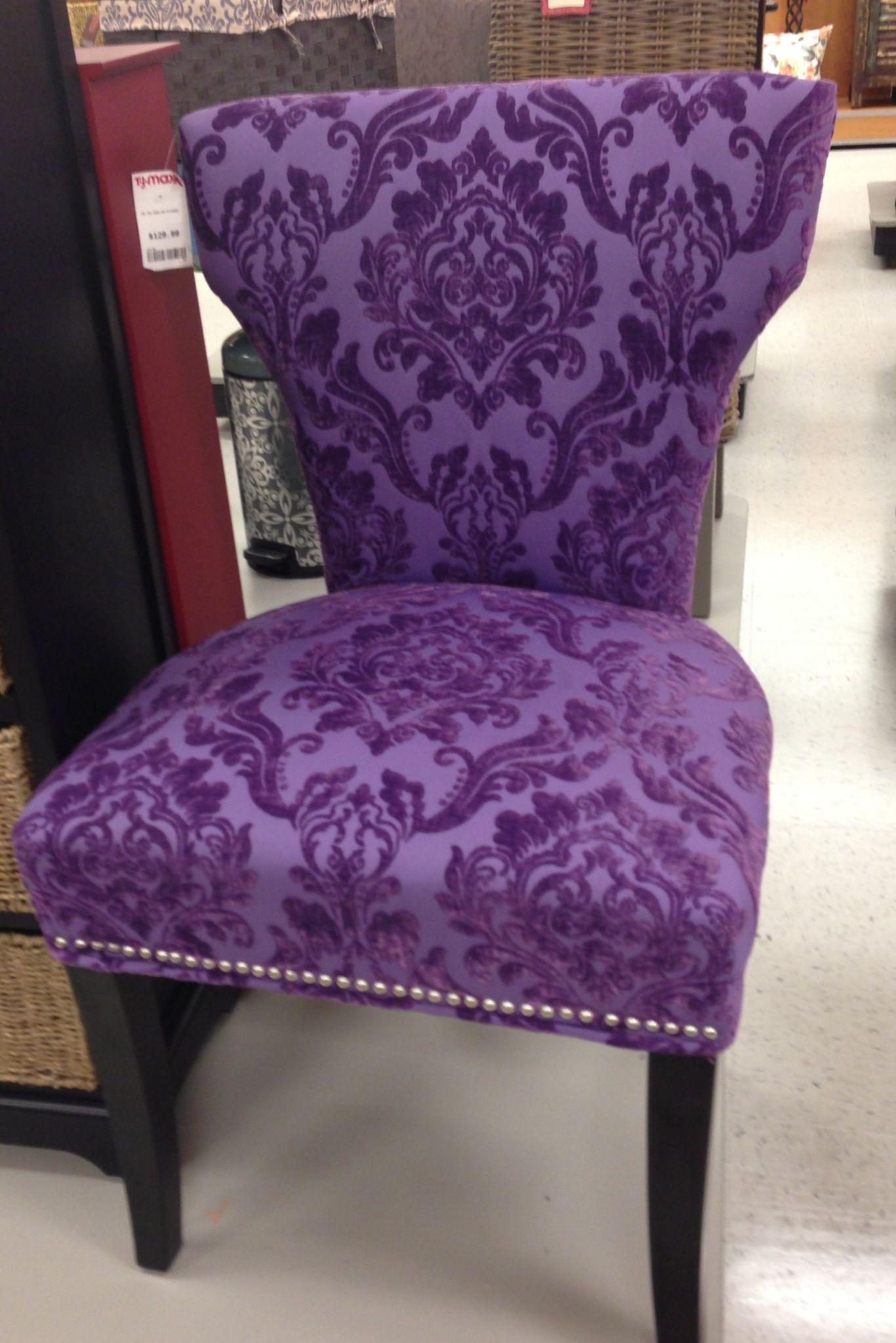 Purple Velvet Upholstered Side Chair