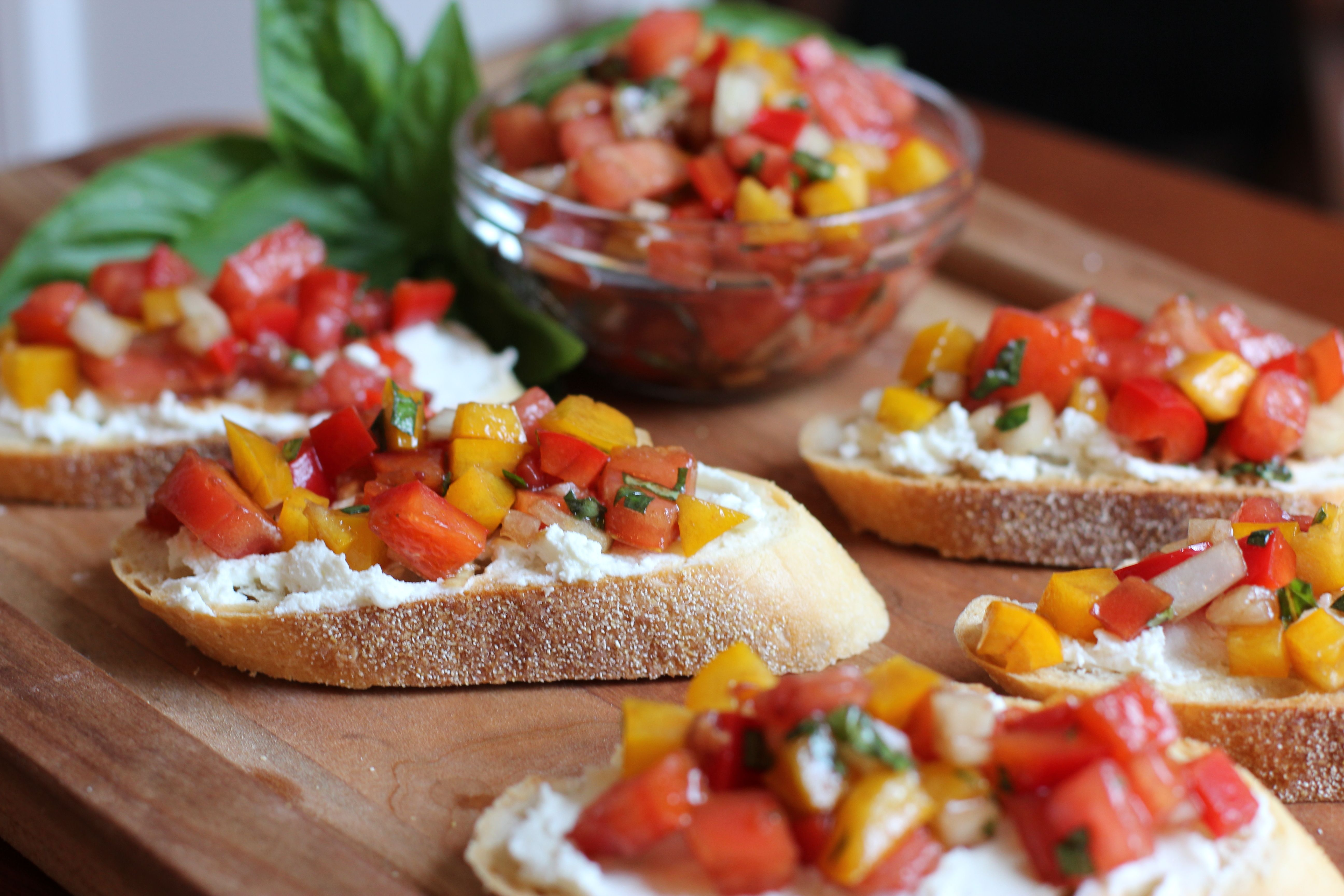 Tomato Bruschetta. | My kind of party appetizers. | Pinterest