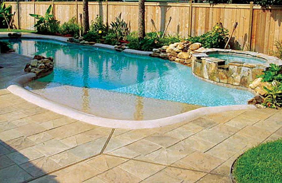 Zero beach entry pool dream house exteriors outdoor spaces pinter - Beach entry swimming pool designs ...