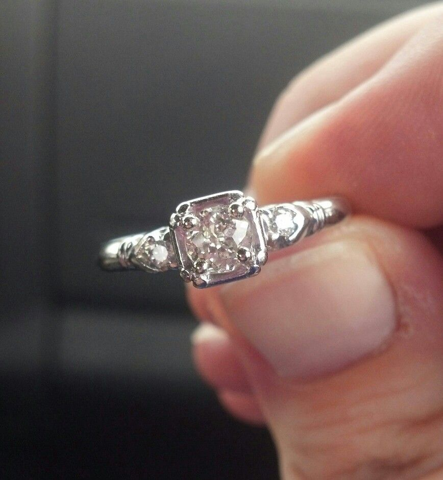 Vintage Engagement Ring 1920 s Eventually Maybe