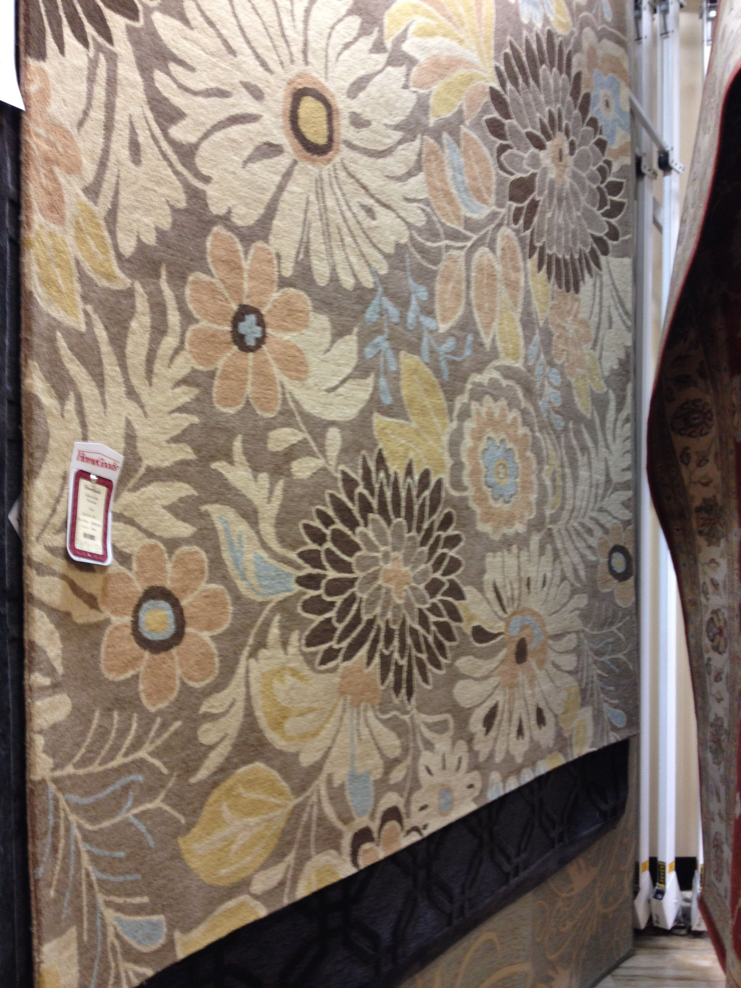 Brown Floral Rug Homegoods Home Goods Pinterest