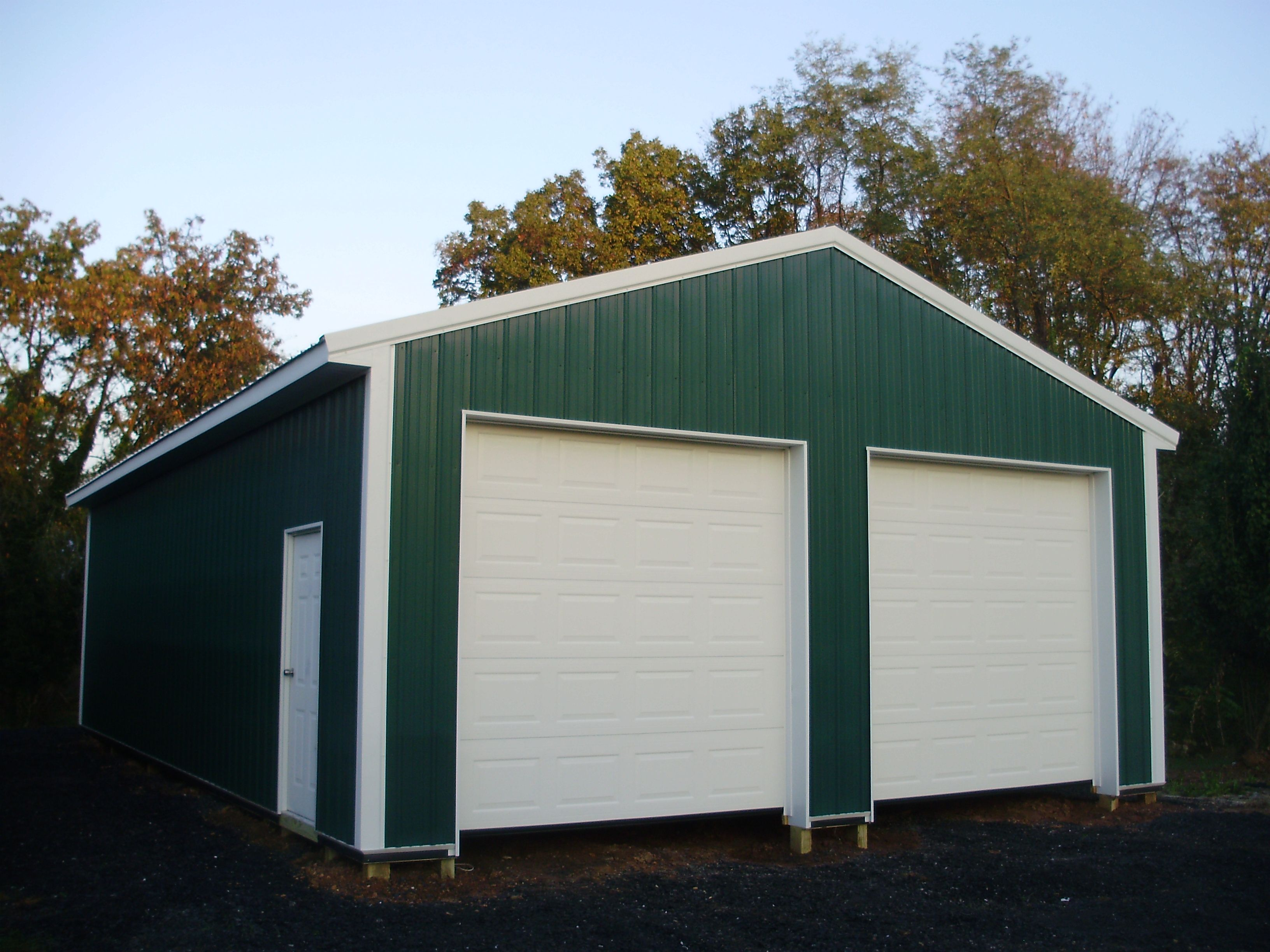 Pin by pioneer pole buildings inc on two car garages for Pole garage pictures