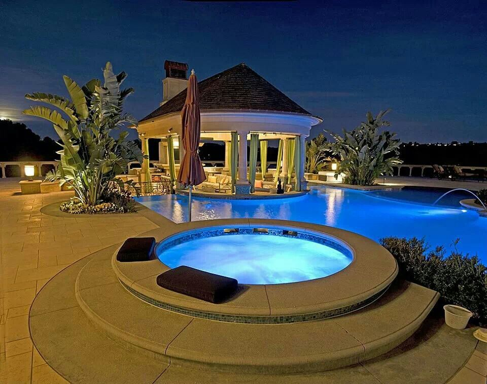 Hidden Patio Pools PATIO CABANA POOL JACUZZI The Inspired Home Pinterest .