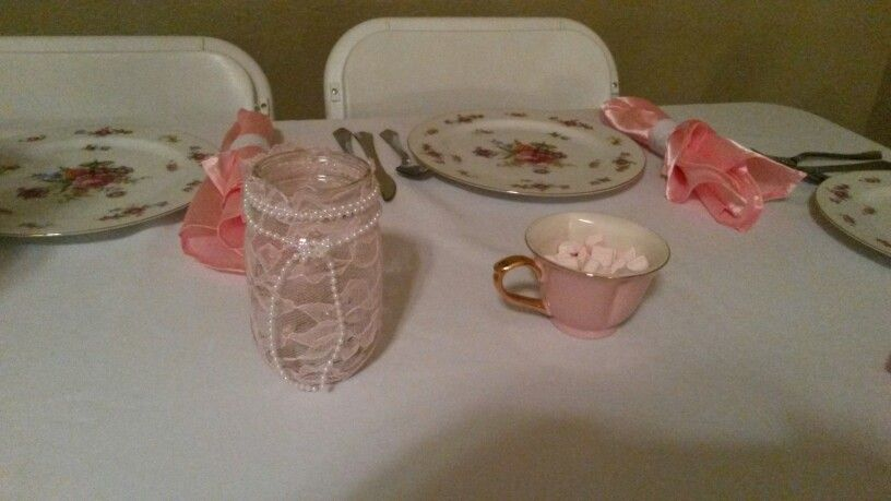 mason jar centerpieces with candles baby shower pinterest