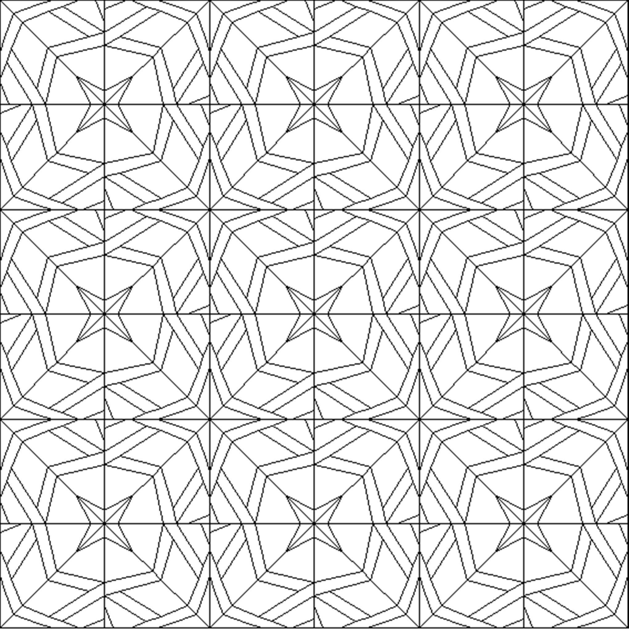 Quilt Block Coloring Pages For Kids Sketch Coloring Page